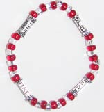 """words to live by"" stretchie - ruby red 6""  1"