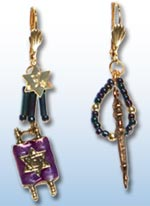 Shavuot, Simchat Torah, Bat Mitzvah Earrings 1