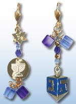 Chanukah Earrings 1