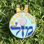 Jewish Golf Ball Markers-Blue 1