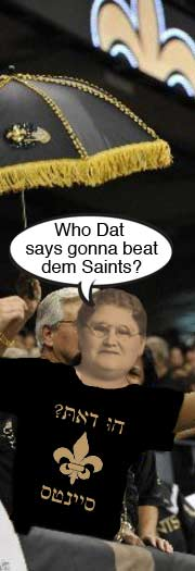 Who Dat says donna beat dem Saints