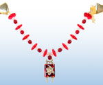 Tallit Clip - Burgundy/Red Disk 1