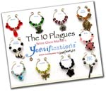The 10 Plagues Wine Glass Markers 1
