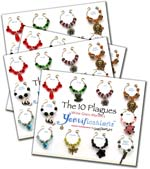 The 10 Plagues Passover Wine Glass Markers Bundle 4 1